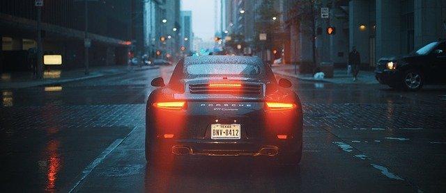 zadní světla Porsche