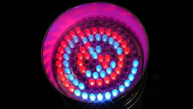 modročervené světlo