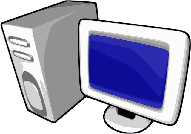 počítač a monitor