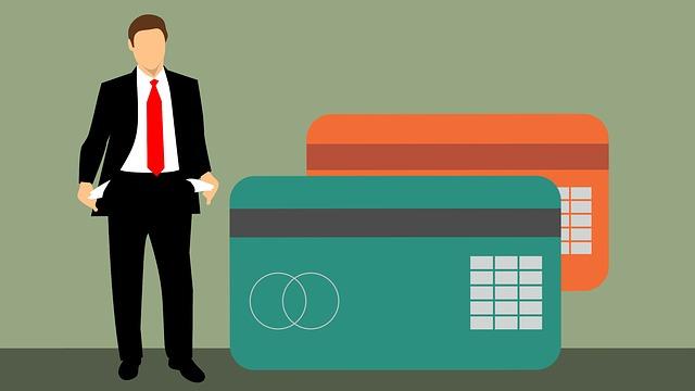 muž a dvě kreditky